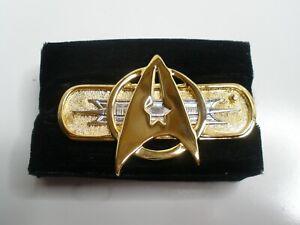 """Star Trek Federation Uniform Insignia 3"""" Jacket Paramount Pin 1992 Licensed"""