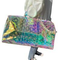 Womens Handbag PVC Holographic Rainbow Laser Girl Sport Luggage Lady Suitcases