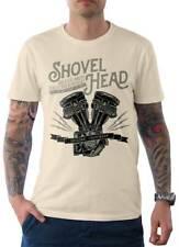 Rebel On Wheels Shovel Head Herren T-Shirt Tee