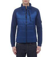 Doudoune Homme CP Company Veste Imperméable Extensible Noir Bleu Neuf