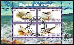 BURUNDI 2011 FAUNE DU MONDE SEA BIRDS VOGEL OISEAUX AVES MARINA STAMPS MNH CTO