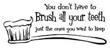 Lávate los dientes Pared Arte Vinilo Calcomanía/Pegatina