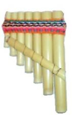 TINY PAN FLUTES GENUINE PERUVIAN MINI PIPES IN BAMBOO
