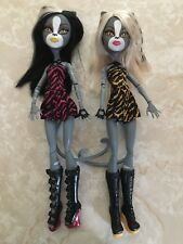 Monster High Doll Were Cat Werecat Twins  Meowlody Purrsephone Scooter Lot RARE!