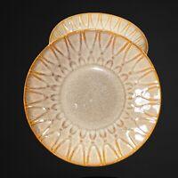 "Laurie Gates California Designs Dinnerware Bowls Set 3Pcs 9""D 2""T Brown"