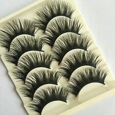 5Pairs  Natural Makeup Tool Cross Eye Lashes Extension False Fake Eyelashes