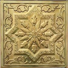 Ceiling Tile False PVC Aged Brass 3d Encha Cafe Decor Wall Panel Pl21 10tile/lot