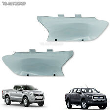 Mask Head Lamp Light Guards Smoke Cover Ford Ranger wildtrak Mk2 Ute 2016 2017