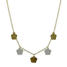 Gold Layered Tri Color Flower Necklace - Reg. $120.00