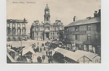 Dewsbury, Market Place  Showing stalls etc.  Early card date unknown used