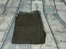 $118.50 Brooks Brothers 1818 Brown IRISH LINEN Flat Front Dress Pants 36X32 EUC