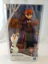 Disney Frozen 2 Anna Doll With Buildable Olaf Figure and Backpack Accessory NEW