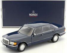 Mercedes-benz 560 Sel W126 Année de construction 1991 Bleu Foncé 1 18 NOREV