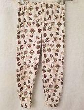Kidgets Boys Brown/Green/White Skull Pirate Design Lounge Sleep Pants Size 4T