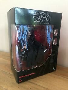 Star Wars The Black Series 6 Inch Emperor Palpatine with Throne RARE Figure USED
