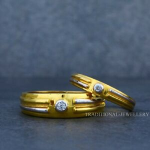 22K Gold Engagement, Wedding, Anniversary Gold Jewelry Man Women Couple Ring 28