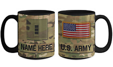 US Army Personalized Officer Mug|Chief|CW3 US Army Gift for Dad/Mom/Son/Daughter