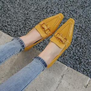 Women's Pointed Toe Kitten Low Heels Slip On Party Formal Ol Pumps Shoes Sandals