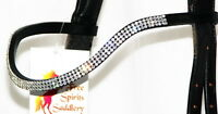 FSS 3 row Crystal POSH Curve Shape U Bling CLEAR WHITE SILVER German Browband