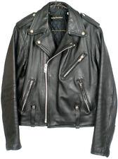 Harley Davidson Hein Gericke Black Leather Lined Biker Jacket Mens Sz 40 no belt
