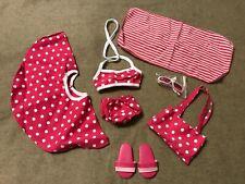 6-Piece Bikini & Towel Swimsuit for 18 inch Doll - Nip
