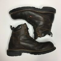 Red Wing Brown Leather Steel Toe Slip Work Boots ASTM F2892-11EH Size 11