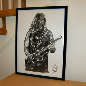 Jeff Hanneman Slayer Seasons in the Abyss Guitar Poster Print Wall Art 18x24