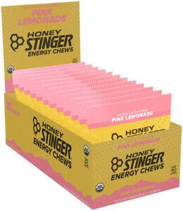 Honey Stinger Organic Energy Chews Box of 12 - Pink Lemonade