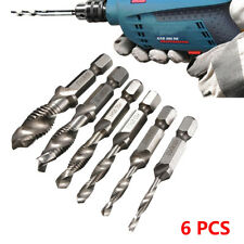 6pcs Countersink Deburr Set Drill Tap Drill Bits Metric Combination M3-m10