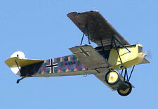 Giant 1/3 Scale German WW-I Fokker D. VII Biplane Plans, Templates, Instructions