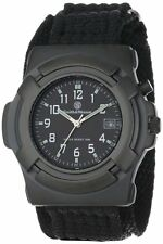 Smith & Wesson Lawman Watch-Black Face w/date-back glow-nylon band 4313 Rothco