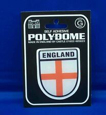England Shield Polydome Raised Badge Sticker
