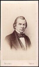 Andrew Johnson. Président des Etats-Unis. Photographe Neurdein vers 1860