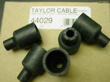 Package of 5 straight spark plug wires rubber boots for socket distributor caps