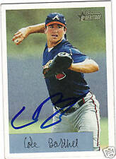 2002 Bowman Heritage #81 COLE BARTHEL signed card