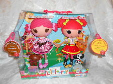 Retired Lalaloopsy Full Size NIB Ember Flicker Flame & Toffee Cocoa Dolls