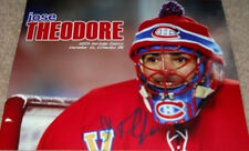 JOSE THEODORE  8x10 PHOTO SIGNED NHL FLORIDA PANTHERS (CANADIENS)