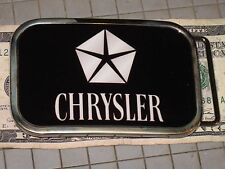 Collect Hot Buckles Chrysler Insignia Automobile Dodge Plymouth Pewer Enameled