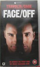 FACE OFF, JOHN TRAVOLTA, CERT 18, VHS-PAL VIDEO