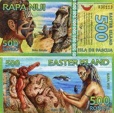 Easter Island Rapa Nui Isla De Pascua 500 Rongo 2012 Fantasy Issue