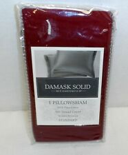 Damask Solid Charter Club Standard Pillowsham 500 Thread Count 100% Pima Cotton