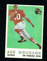 NM 1959 Topps #102 Abe Woodson RC.