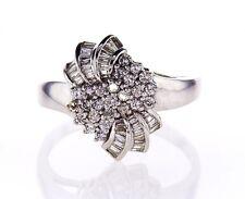 Beautiful Estate Ring 3.50CT Natural Round Diamonds Certified 14k White Gold
