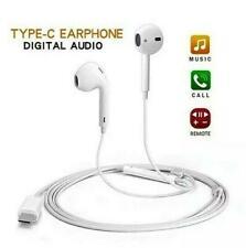 USB Type-C Digital Audio Earphone Sound Stereo Headset Headphones Earbuds White