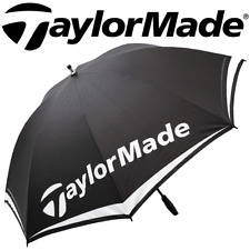 "TAYLORMADE 60"" TOUR LOGO SINGLE CANOPY GOLF UMBRELLA / BROLLEY / 2018 MODEL"