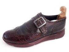Giorgio Armani Single Monks Brown Leather Mens Shoe Size US 8.5 EU 41.5 $620