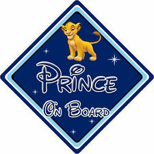 Disney Prince On Board Car Sign - Baby On Board - Lion King Simba DB