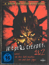 Jeepers Creepers 1 & 2 , 4 DVDs DeLuxe Edition , 100% uncut , Neuware