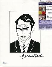 GREGORY PECK ACTOR / DUEL IN THE SUN & ROMAN HOLIDAY SIGNED PAGE AUTOGRAPH
