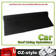 1.5M x 2.8M Black Foam Backed Roof Lining Headliner Upholstery Fabric Plaid Look